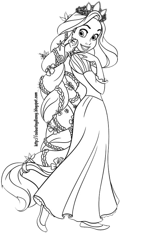 tangled coloring pictures